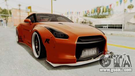 Nissan GT-R R35 Liberty Walk LB Performance for GTA San Andreas right view