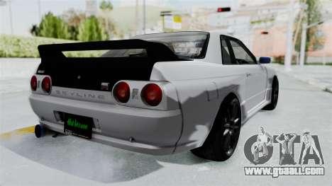 Nissan Skyline BNR32 Hot Version for GTA San Andreas back left view