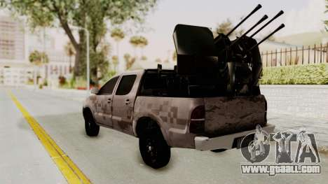 Toyota Hilux 2014 Army Libyan for GTA San Andreas left view