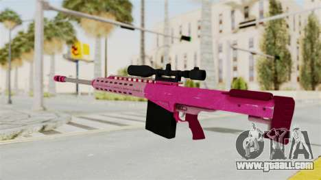 GTA 5 Heavy Sniper Pink for GTA San Andreas second screenshot