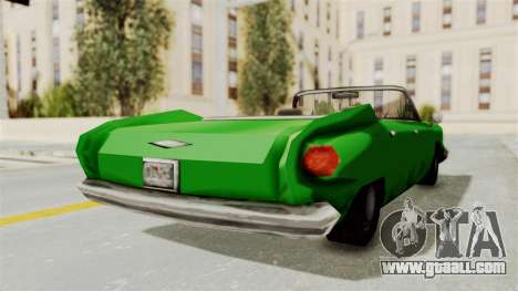 Glendale XS for GTA San Andreas back left view