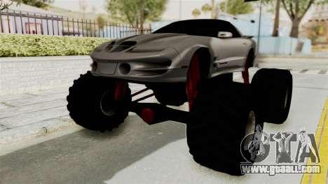 Pontiac Firebird Trans Am 2002 Monster Truck for GTA San Andreas