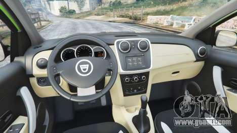 GTA 5 Dacia Sandero Stepway 2014 rear right side view