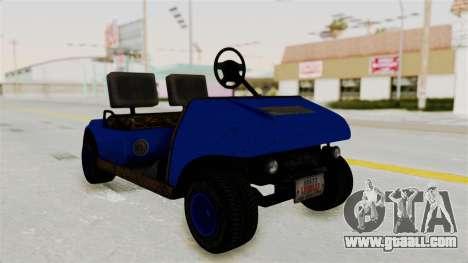 GTA 5 Gambler Caddy Golf Cart IVF for GTA San Andreas