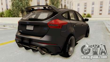 Ford Focus RS 2017 Rocket Bunny for GTA San Andreas back left view