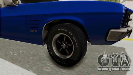 Holden Monaro GTS 1971 AU Plate IVF for GTA San Andreas back view