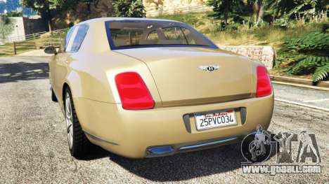 GTA 5 Bentley Continental Flying Spur 2010 rear left side view