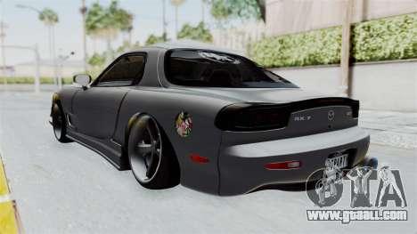 Mazda RX-7 FD3S HellaFlush for GTA San Andreas back left view