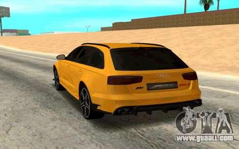 Audi RS6 Avant 2015 ABT for GTA San Andreas back left view