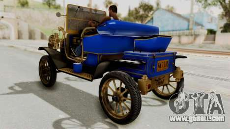 Ford T 1912 Open Roadster v2 for GTA San Andreas back left view