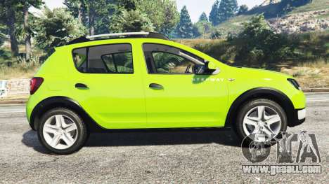 GTA 5 Dacia Sandero Stepway 2014 left side view
