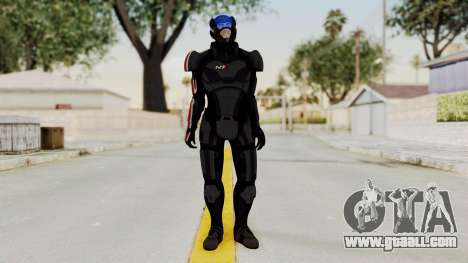 ME2 Shepard Default N7 Armor with Capacitor Helm for GTA San Andreas second screenshot