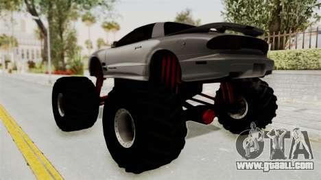 Pontiac Firebird Trans Am 2002 Monster Truck for GTA San Andreas left view