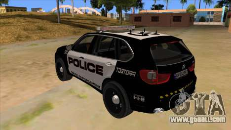 2014 BMW X5 F15 Police for GTA San Andreas back left view