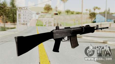 IOFB INSAS Plastic Black Skin for GTA San Andreas second screenshot