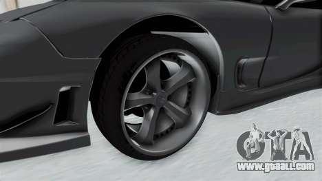 Mazda RX-7 FD3S HellaFlush for GTA San Andreas back view
