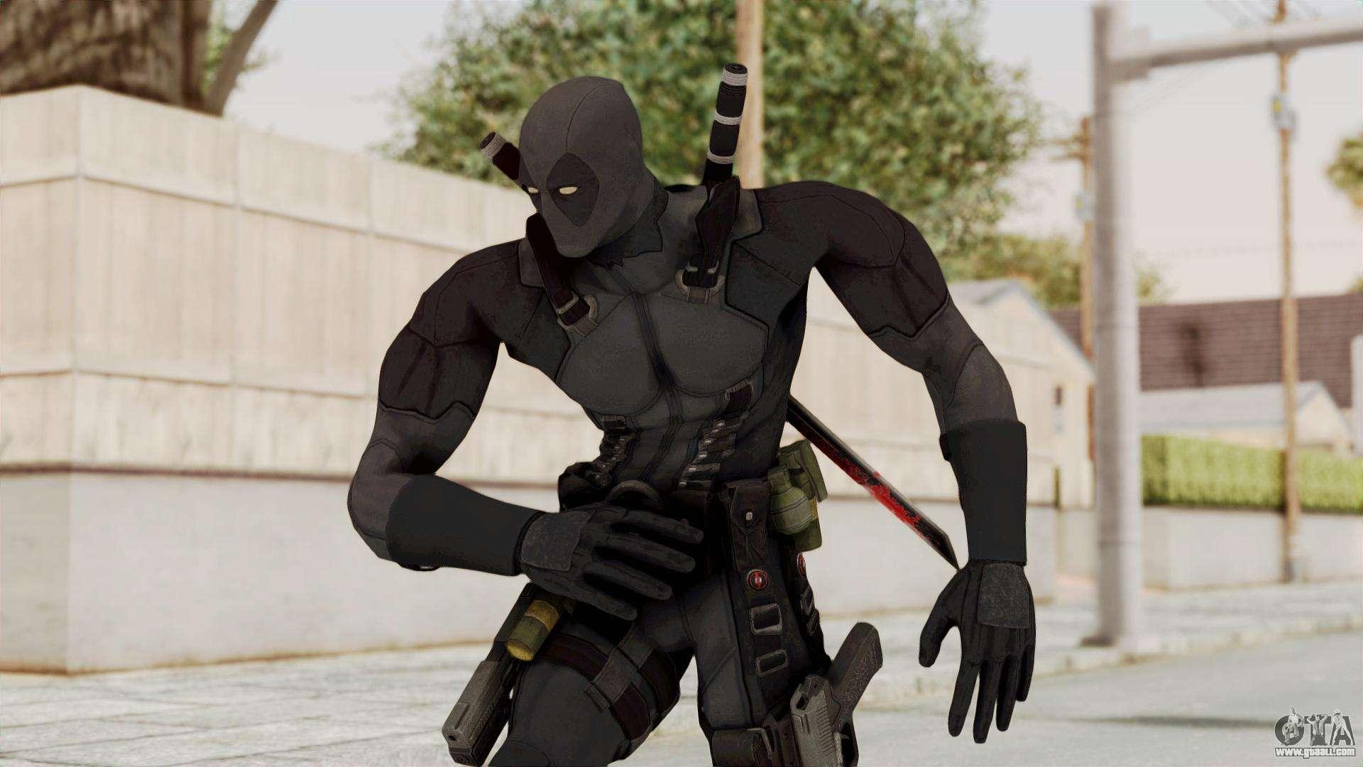 Black Deadpool For Gta San Andreas