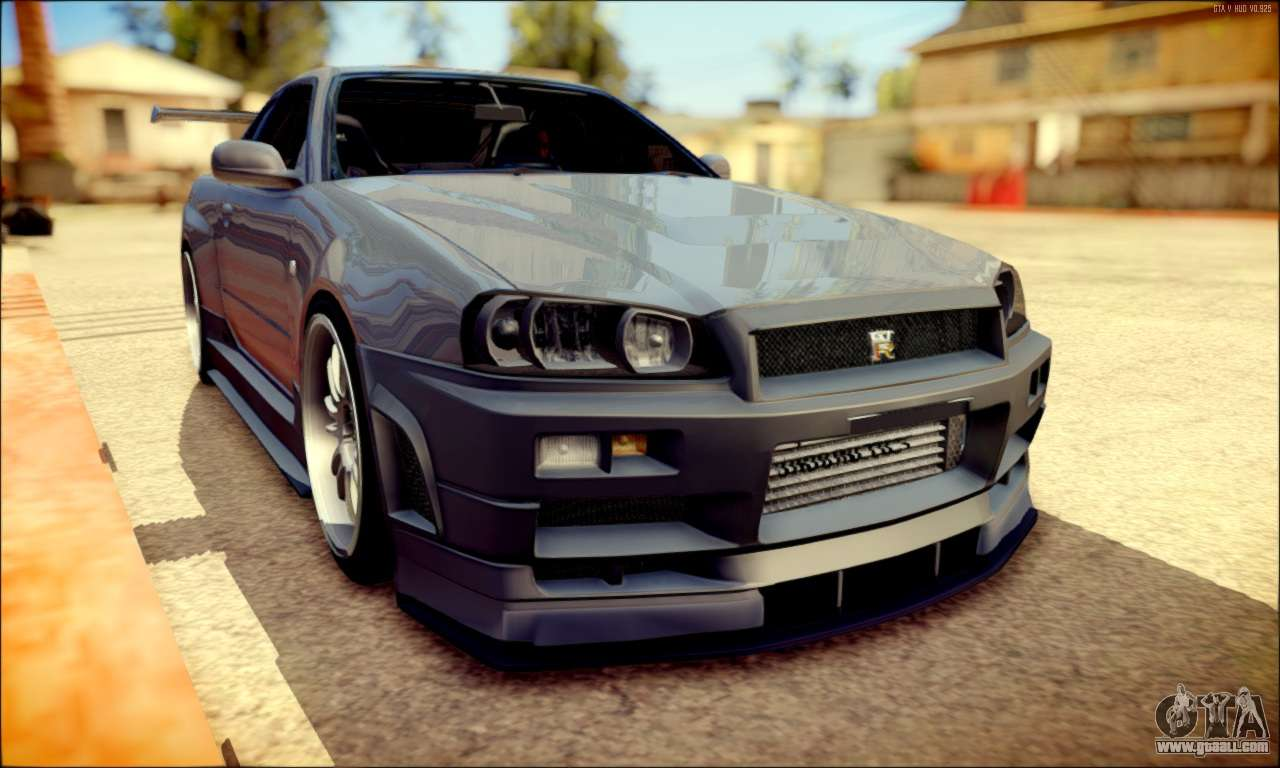 nissan skyline gt r r34 for gta san andreas. Black Bedroom Furniture Sets. Home Design Ideas