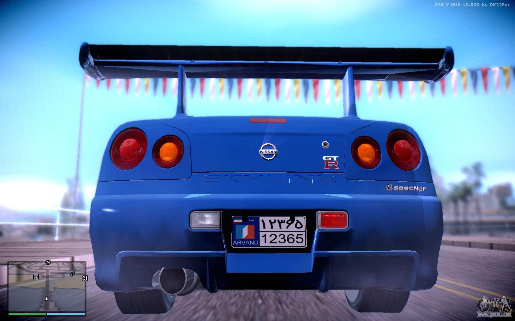 Nissan Skyline Gt R R34 For Gta San Andreas
