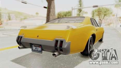 GTA 5 Declasse Sabre GT2 B IVF for GTA San Andreas right view