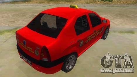 Dacia Logan Scoala for GTA San Andreas right view