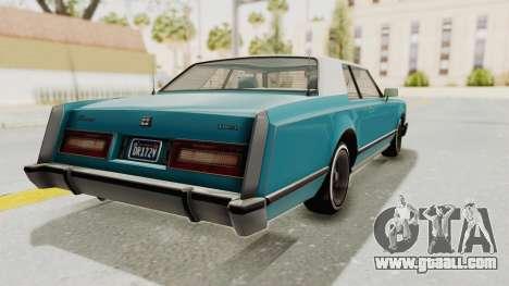 GTA 5 Dundreary Virgo Classic Custom v3 for GTA San Andreas back left view