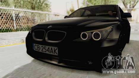 BMW 530D E60 for GTA San Andreas back left view
