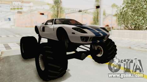 Ford GT 2005 Monster Truck for GTA San Andreas right view