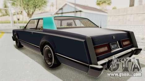 GTA 5 Dundreary Virgo Classic Custom v2 IVF for GTA San Andreas back left view