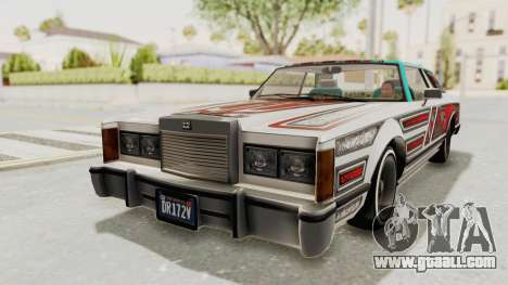 GTA 5 Dundreary Virgo Classic Custom v3 for GTA San Andreas upper view