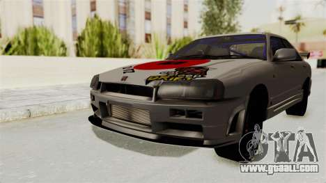 Nissan Skyline ER34 for GTA San Andreas back left view