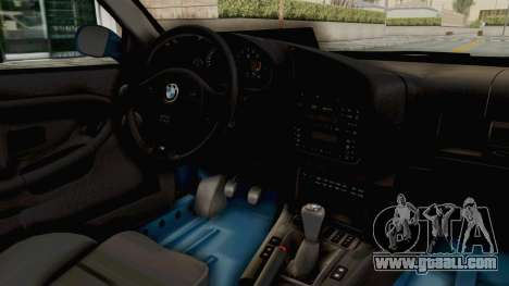 BMW 325i E36 for GTA San Andreas inner view
