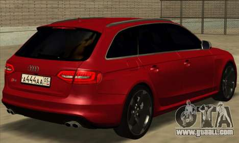 Audi S4 Avant for GTA San Andreas left view