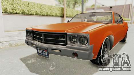 GTA 5 Declasse Sabre GT2 B for GTA San Andreas