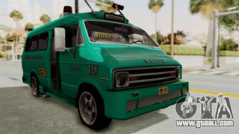 Dodge Ram Van Microbus 1977 for GTA San Andreas