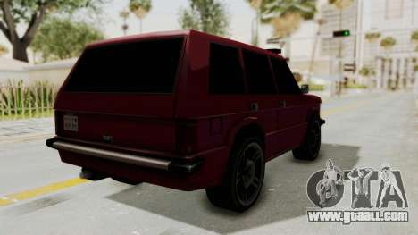 Huntley LR for GTA San Andreas back left view