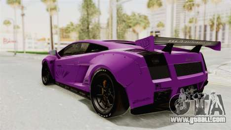 Lamborghini Gallardo 2015 Liberty Walk LB for GTA San Andreas back left view