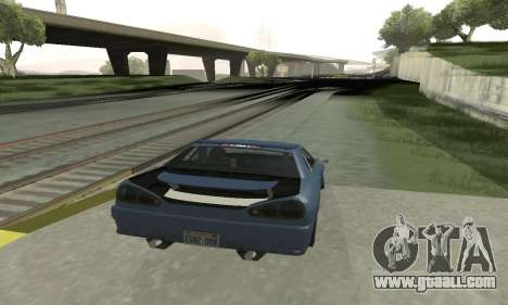 Standard Elegy with a retractable spoiler for GTA San Andreas right view