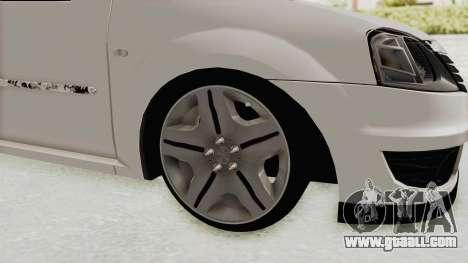 Dacia Logan 2013 for GTA San Andreas back view