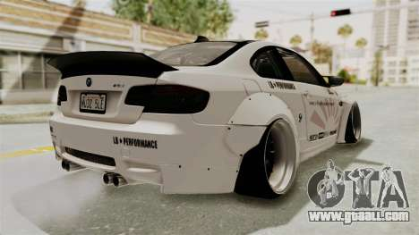 BMW M3 E92 Liberty Walk LB Performance for GTA San Andreas back left view