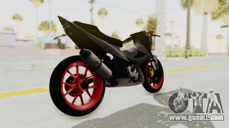 Satria FU 150 Modif FU 250 Superbike for GTA San Andreas back left view