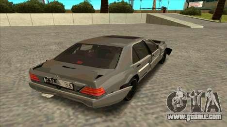 Mercedez-Benz W140 for GTA San Andreas inner view