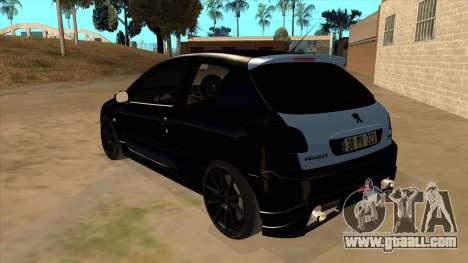Peugeot 206 MO Edit for GTA San Andreas back left view
