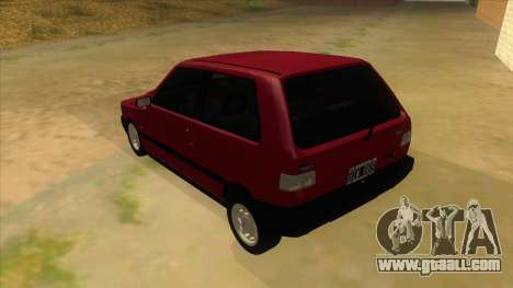 Fiat Uno S for GTA San Andreas back left view