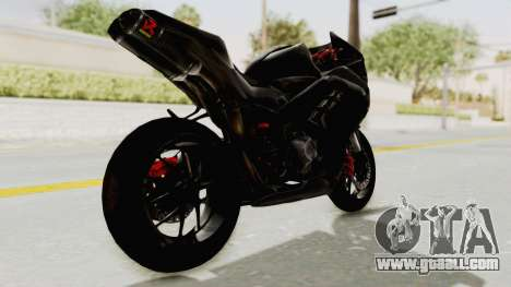 Kawasaki Ninja 300 FI Modification for GTA San Andreas left view