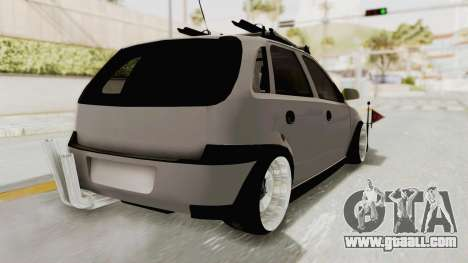 Opel Corsa for GTA San Andreas back left view