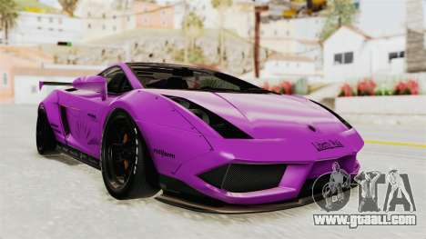 Lamborghini Gallardo 2015 Liberty Walk LB for GTA San Andreas