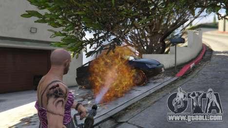 GTA 5 Real Flamethrower 1.5 ninth screenshot