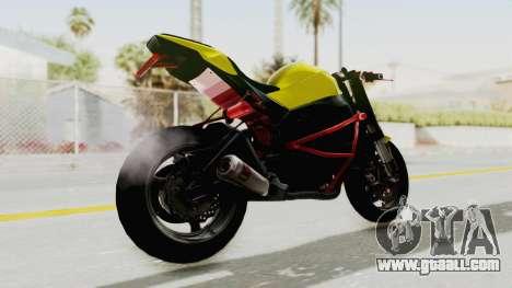 Kawasaki Ninja ZX-10R Nakedbike Stunter for GTA San Andreas left view