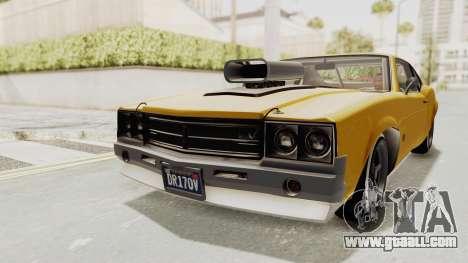 GTA 5 Declasse Sabre GT2 B IVF for GTA San Andreas back left view